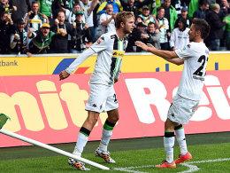 Ausgleich in letzter Minute: Christoph Kramer (li.). bejubelt seinen Treffer zum 1:1.