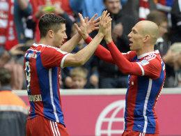 Lewandowski und Robben
