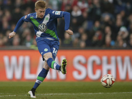 Eiskalter Belgier: Kevin De Bruyne trifft früh zum 1:0 für seinen VfL Wolfsburg.
