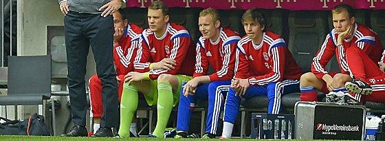 Manuel Neuer, Sebastian Rode, Gianluca Gaudino, Holger Badstuber (v.li.)