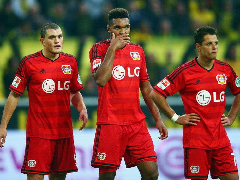 Nach der Partie wirkten die Leverkusener Spieler ein wenig ratlos.