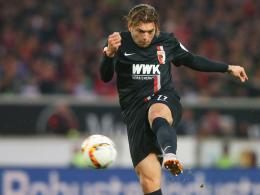 Drauf und rein ins Glück: Alexander Esswein traf zum 1:0...