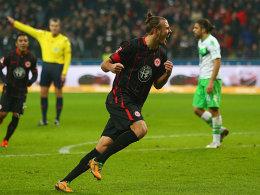 Frankfurter Matchwinner: Alex Meier schoss den VfL fast im Alleingang ab.
