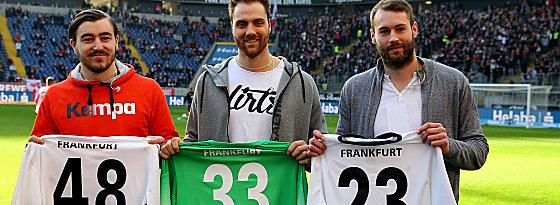 Jannik Kohlbacher, Andreas Wolff und Steffen Fäth
