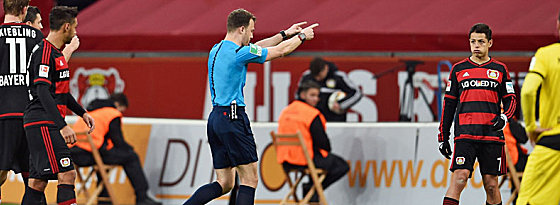 Zwangspause: Schiedsrichter Felix Zwayer unterbricht das Spiel.