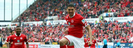 Durfte gegen Köln sein überhaupt erstes Bundesligator bejubeln: Mainz-Verteidiger Leon Balogun.