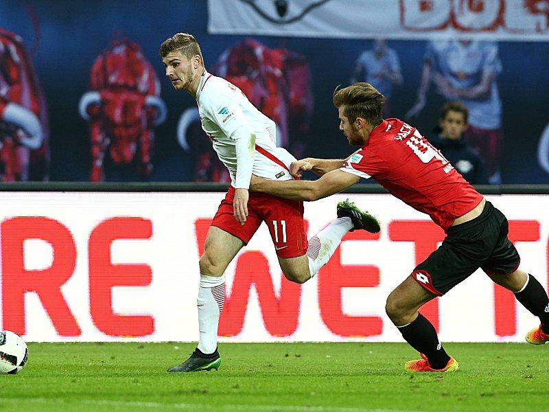 Bezeichnend: Mainz' Hack kommt bei Werner nicht hinterher.