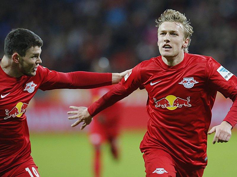 Emil Forsberg (rechts)
