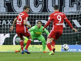 Gladbach dreht zu spät auf: Thiagos Auge für Müller entscheidet