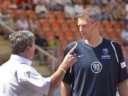 Präsident Rainer Zipfel und Trainer Frank Neubarth