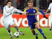 Gennadi Bliznyuk (re.) im Duell mit Reals Fernando Gago