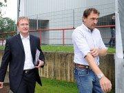 Energie Cottbus: Steffen Heidrich, Claus-Dieter Wollitz (re.)