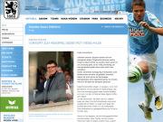 Screenshot von der Website des TSV 1860 München: Manfred Stoffers' Vorwort zum Spiel gegen Rot Weiss Ahlen.