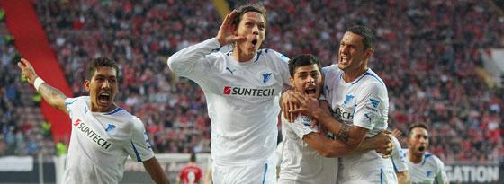 Jubel in der Relegation: Hoffenheim behauptete sich gegen Kaiserslautern.