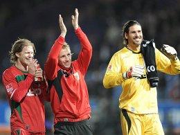 Marcel de Jong, Michael Thurk, Simon Jentzsch (v.l.) - FC Augsburg