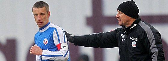 Marek Mintal und Trainer Wolfgang Wolf