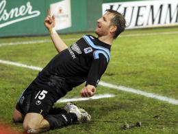 """Brust raus: """"Löwen""""-Mittelfeldspieler Stefan Aigner erzielte fünf Tore in den vergangenen sechs Spielen."""