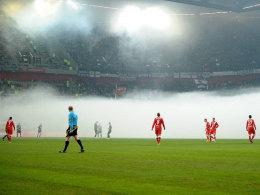 Pyro-Nebel in Düsseldorf