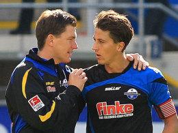 SCP-Trainer Stephan Schmidt (li.) mit Jens Wemmer