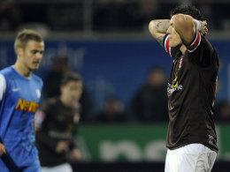Einmal getroffen, aber mehrfach aussichtsreich gescheitert: St. Paulis Daniel Ginczek haderte mit seinem Abschlusspech.