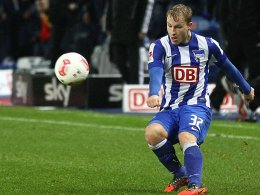 Hat sich auf dem linken Flügel der Hertha festgebissen: Fabian Holland.
