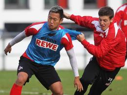 Vor dem Absprung: Kölns Chong Tese (li.), hier im Duell mit Kevin Wimmer, wird von den Suwon Samsung Bluewings umworben.