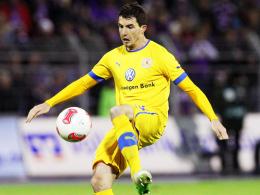 Matchwinner: Norman Theuerkauf schoss Braunschweig gegen Offenbach zum Testspielsieg.