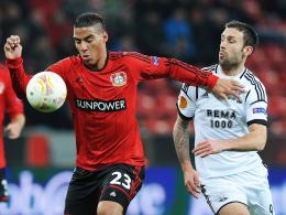 Spielpraxis sammeln: Leverkusens Carlinhos, links gegen Trondheims Rade Prica, wird von Regensburg ausgeliehen.