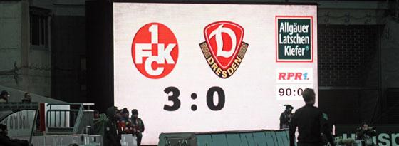 Endstand: Nach dem Spiel kam es in Kaiserslautern zu Zwischenfällen.