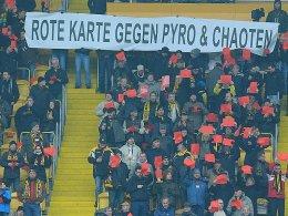 Vergangene Woche zeigten Dynamo-Fans den Chaoten die Rote Karte.