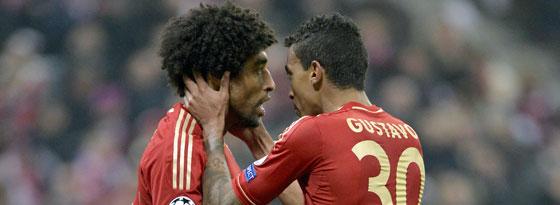Dante (l.) und Luiz Gustavo