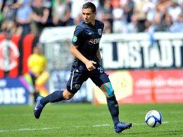 Spielt in Aue vor: Zlatko Hebib, bislang beim SV Babelsberg am Ball.