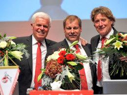 Der alte und neue Vorstand des 1. FC Köln