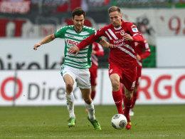 Bald in den Farben vereint: Marco Stiepermann (re.) spielt ab der kommenden Saison gemeinsam mit Tim Sparv in Fürth.