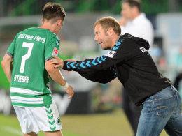 Gehen im Sommer womöglich getrennte Wege: Trainer Frank Kramer und der vom HSV umworbene Zoltan Stieber.