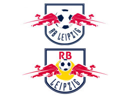 Das neue und das alte Logo von RasenBallsport Leipzig