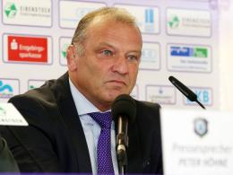 Rücktritt: Aues Präsident Lothar Lässig legt sein Amt nieder.