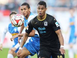 Doppelpack: Rubin Okotie brachte den TSV 1860 München auf die Siegerstraße.