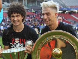 Doublesieger mit Salzburg - und demnächst in Leipzig? André Ramalho und Kevin Kampl.