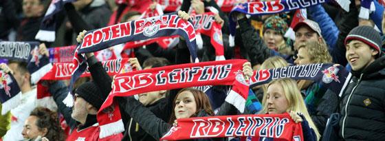 Fans von RasenBallsport Leipzig