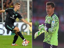 Nicht auf dem Grün: St. Paulis Lasse Sobiech (re.) und Philipp Tschauner setzten mit dem Training aus.