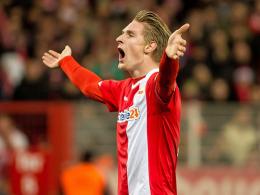 Erzielte für seinen neuen Arbeitgeber bereits sieben Treffer: Unions Sebastian Polter.