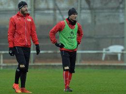 Hat seinen Vertrag mit dem 1. FC Union Berlin aufgelöst und trainiert nicht mehr mit Adam Nemec bei der U 23: Baris Özbek (r.)