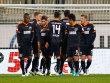Die Spieler des Karlsruher SC bejubeln den F�hrungstreffer im Test gegen den VfL Wolfsburg.