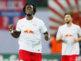 Befreiter Jubel: Leipzigs Rodnei brachte RB gegen Düsseldorf auf die Siegerstraße.