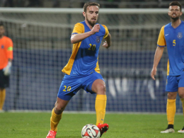 Stammspieler in der Nationalelf, beim FSV nur Ergänzungsspieler: Faton Toski, hier für den Kosovo im Einsatz.