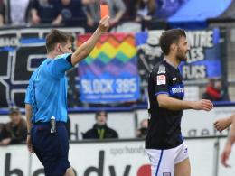 Harte Strafe: Frankfurts Edmond Kapllani muss drei Spiele zuschauen.