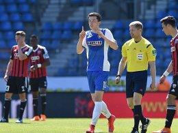 Michael Gregoritschs Elfmetertor sorgte für die Wende: Bochum schlug Ingolstadt mit 3:1.