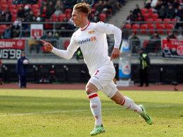 Fühlt sich bei Union pudelwohl, steht aber in Mainz unter Vertrag: Angreifer Sebastian Polter.