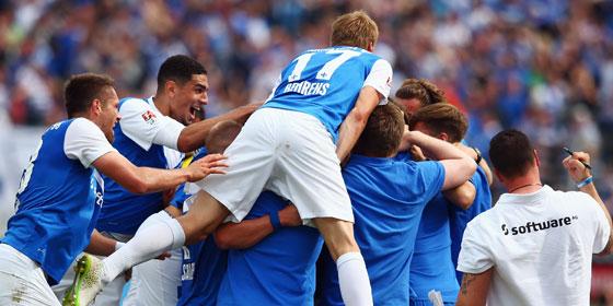 Darmstadt feiert - Durchmarsch in die Bundesliga.